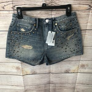 👖🔥 Juicy Couture Mixed Metal Studded Shorts